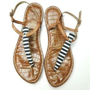 Sam Edelman Gigi leather sandals stripes Sz 8